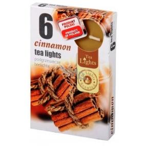 Tea Lights Cinnamon s vůní skořice vonné čajové svíčky 6 kusů