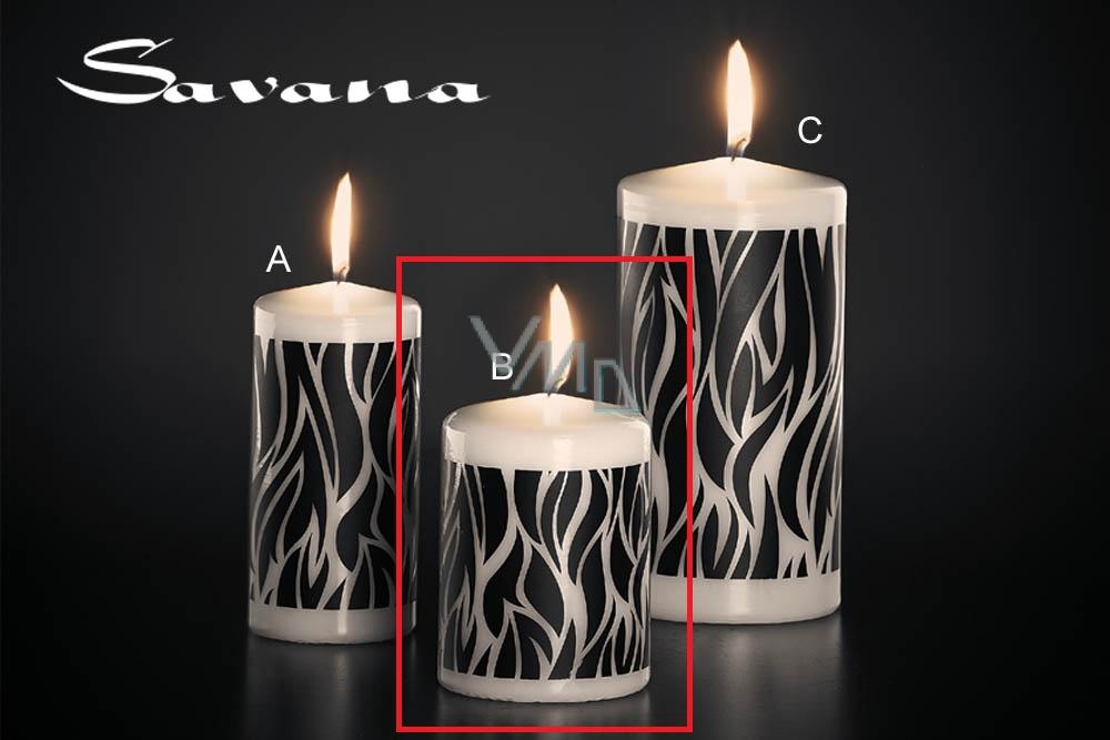 Lima Savana svíčka černá válec 70 x 100 mm 1 kus