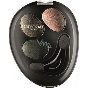 Deborah Milano Trio Hi-Tech Eyeshadow oční stíny 07 Green Chic 4,2 g