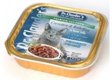 Dr. Clauders Kreveta a treska s kousky masa kompletní krmivo pro kočky 100 g