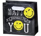 BSB Luxusní dárková papírová taška 14,5 x 15 x 6 cm Smiley LDT 377-CD