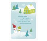 Albi Hrací přání do obálky K Vánocům Dva sněhuláci Padá sníh Milan Drobný 14,8 x 21 cm