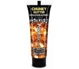 Diva & Nice Chunky Glitter Holographic UV ozdobný gel na tělo a obličej Summer Dreams - žluto-oranžový 13 ml
