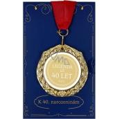 Albi Papírové přání do obálky Přání s medailí - 40 let W