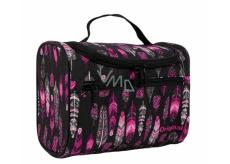 Albi Original Cestovní kosmetický kufřík Peříčka 25 x 16 x 13 cm