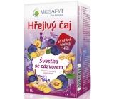 Megafyt Bylinková lékárna Švestka se zázvorem ovocný čaj napomáhá k trávení, obranyschopnosti těla a relaxaci 20 x 2,5 g