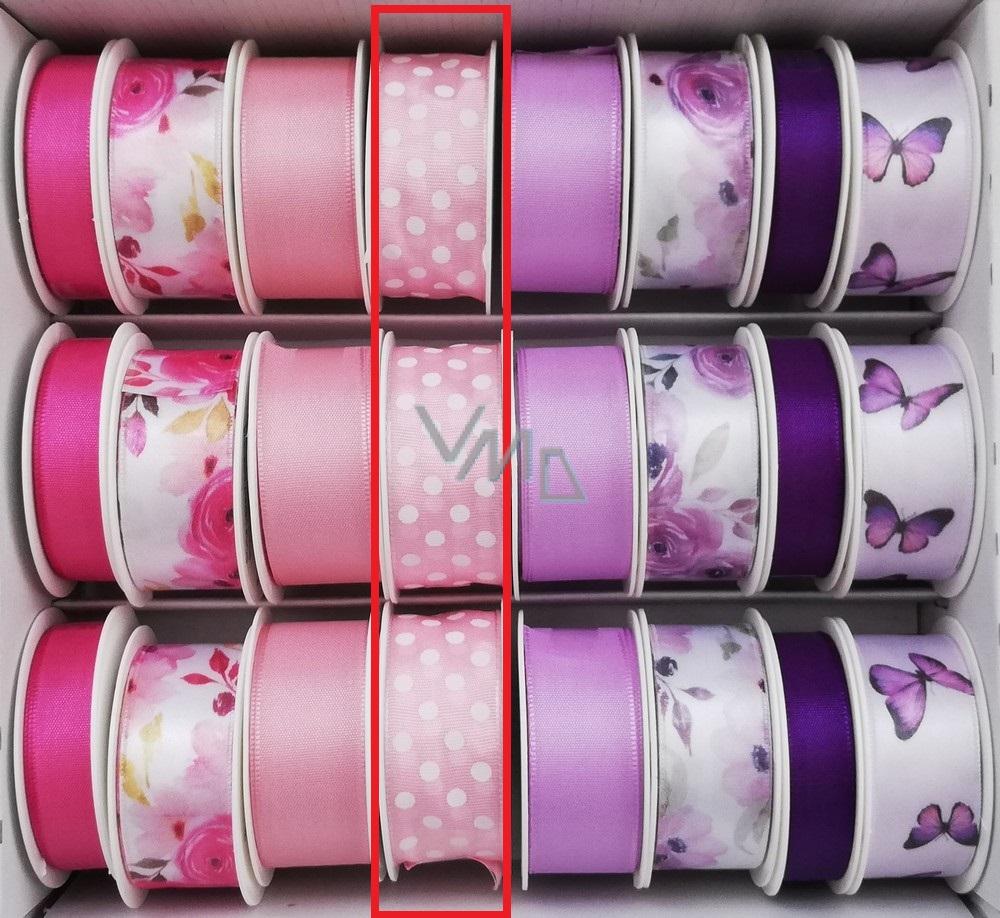 Ditipo Ribbon satiniert 3 x 25 mm rosa Lichtfleck