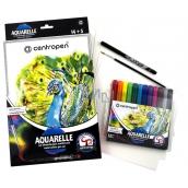 Centropen Aquarelle akvarelové barvy sada 12 kusů + příslušenství