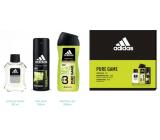 Adidas Pure Game voda po holení 50 ml + 3v1 sprchový gel na tělo, tvář a vlasy 250 ml + deodorant sprej 150 ml, kosmetická sada