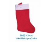 Mikuláš / Santa vánoční punčocha 43 cm, červenobílá
