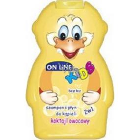 On Line Ovocný koktejl 2v1 sprchový gel a šampon na vlasy pro děti 250 ml