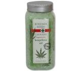 Bohemia Gifts Cannabis Konopný olej regenerační sůl do koupele 900 g