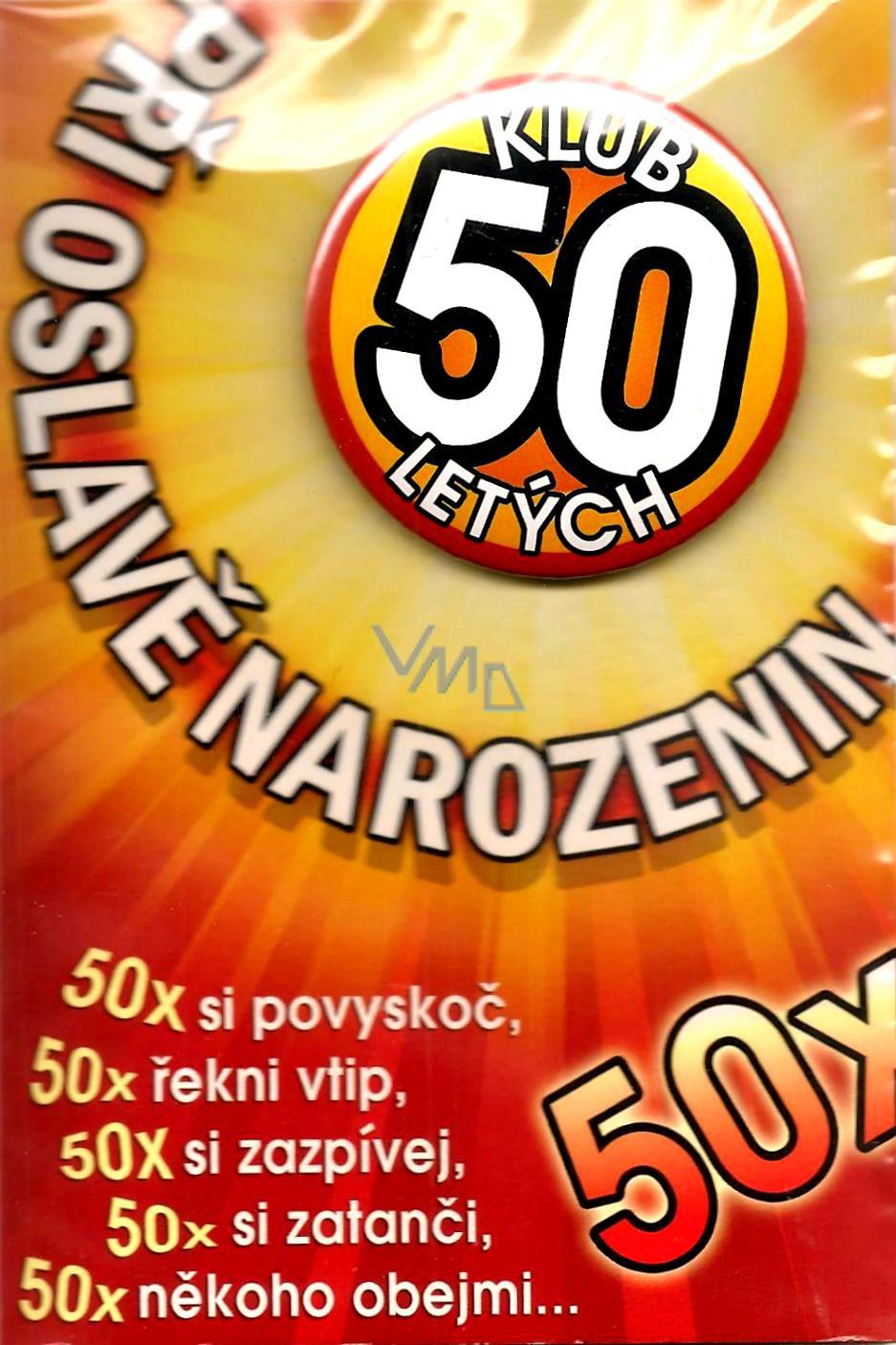 přání k 50 tým narozeninám Nekupto Přání k narozeninám Klub 50 letých   VMD drogerie přání k 50 tým narozeninám