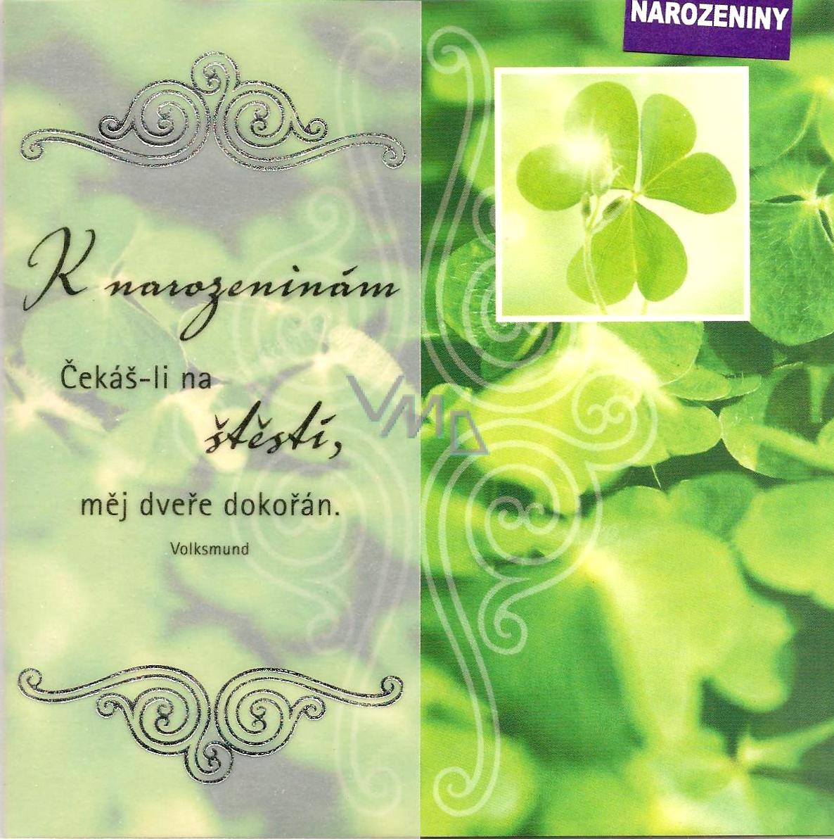super přání k narozeninám Nekupto Přání k narozeninám čtyřlístek   VMD parfumerie   drogerie super přání k narozeninám