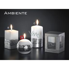 Lima Ambiente svíčka bílá koule 100 mm 1 kus