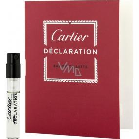 Cartier Declaration toaletní voda pro muže 1,5 ml s rozprašovačem, Vialka