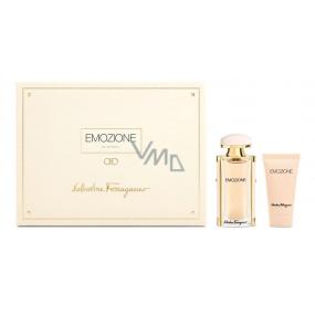 Salvatore Ferragamo Emozione parfémovaná voda pro ženy 30 ml + tělové mléko 50 ml, dárková sada