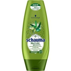Schauma Nature Moments Středomořský olivový olej a Aloe Vera regenerační proti třepení konečků balzám na vlasy 200 ml