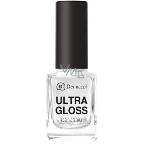 Dermacol Ultra Gloss Top Coat nadlak na nehty pro vytvoření ultra lesku 11 ml