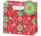 BSB Luxusní dárková papírová taška 23 x 19 x 9 cm Červená LDT 359-A5
