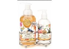 Michel Design Works Paradise pěnící tekuté mýdlo na ruce 530 ml + mléko na ruce a tělo, 236 ml kosmetická sada péče o ruce