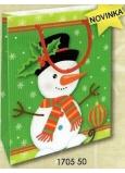 Nekupto Dárková papírová taška 14 x 11 x 6,5 cm Vánoční 1705 50 WBS