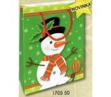 Nekupto Dárková papírová taška malá 14 x 11 x 6,5 cm Vánoční 1705 50 WBS