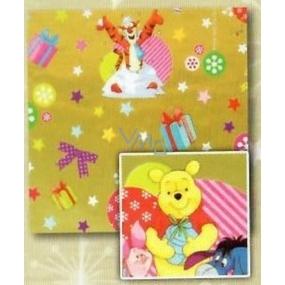 Nekupto Dárkový balicí papír 70 x 150 cm Vánoční Medvídek Pú