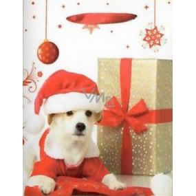 Nekupto Dárková papírová taška 32,5 x 26 x 13 cm Vánoční 1238 02 WBL