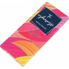 Albi Dárková mléčná čokoláda Té nejkrásnější 50 g 14 x 6 cm
