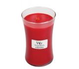 WoodWick Crimson Berries - Červená jeřabina vonná svíčka s dřevěným knotem a víčkem sklo velká 609,5 g