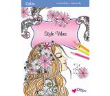 Ditipo Calm Style Vibes relaxační omalovánky A4 32 stran