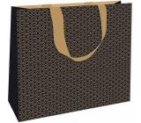 Nekupto Dárková papírová taška s ražbou 30 x 23 x 12 cm Zlatá 1869 LFL