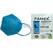 Famex Respirátor ústní ochranný 5-vrstvý FFP2 obličejová maska modrá 10 kusů