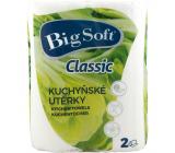 Big Soft Classic 2vrstvé kuchyňské papírové utěrky, 2× 51 útržků, 2 role