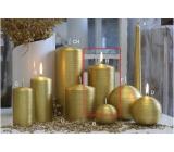 Lima Alfa svíčka zlatá válec 80 x 150 mm 1 kus