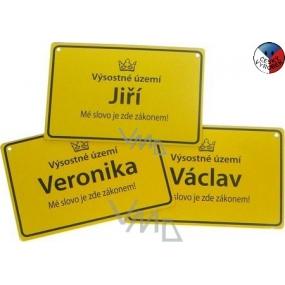 Nekupto Cedulka se jménem Vladimíra 15x10 cm 1 kus