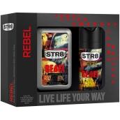 Str8 Rebel toaletní voda pro muže 50 ml + deodorant sprej 150 ml, dárková sada