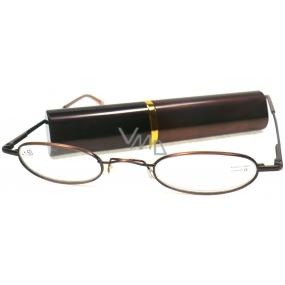 Berkeley Cleopatra čtecí dioptrické brýle +3,0 hnědé v pouzdru 1 kus M160