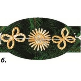 Slaměný vánoční řetěz č.6 2 m