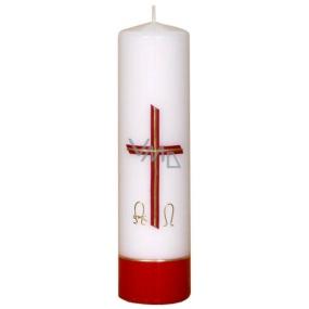 Lima Reliéf kostelní svíčka bílá válec 1013 60 x 220 mm