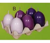 Lima Vajíčko s vůní svíčka fialová 40 x 60 mm sada 6 kusů