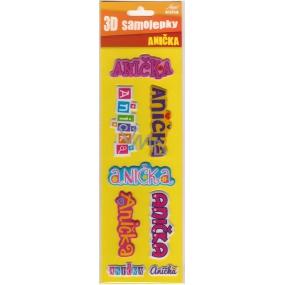 Nekupto 3D Samolepky se jménem Anička 8 kusů 018