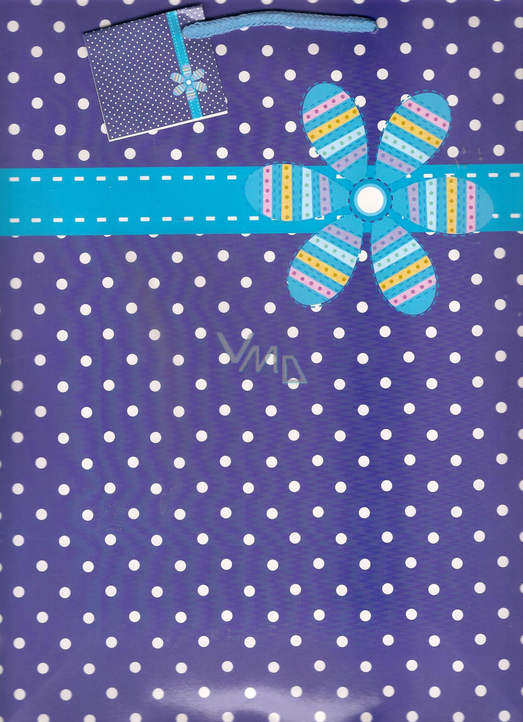 Taška 1135 40 L - KFL fialovo biely puntík + kvet