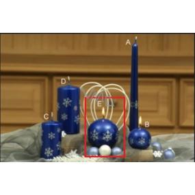 Lima Vločka svíčka nebeská modrá koule 80 mm 1 kus