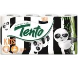 Tento Kids Panda toaletní papír bílý s potiskem Pandy 3 vrstvý 150 útržků 8 kusů
