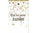 Nekupto Nech své jméno zazářit taška na keramický svícen s věnováním 17,5 x 11 x 8 cm