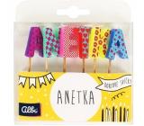 Albi Dortové svíčky jméno - Anetka, 2,5 cm
