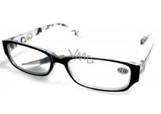 Berkeley Čtecí dioptrické brýle +4,0 plast černé, stranice s obdelníky 1 kus MC2084