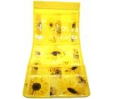 Kapsář na zavěšení žlutý 59 x 24 cm 6 kapes 714